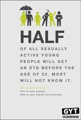 The Iowa Department of Public Health uses this STD-awareness poster from the federal Centers for Disease Control and Prevention.