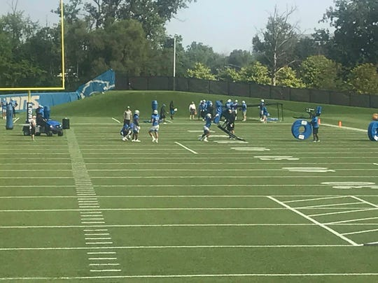 The Lions have installed a hill for conditioning at their practice facility in Allen Park.