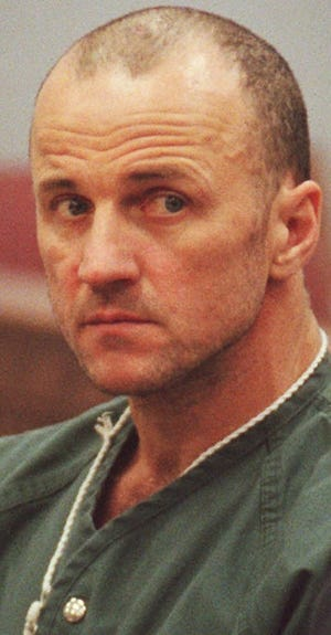 In a Dec. 4, 1997, file photo, Marvin Gabrion II is shown during his preliminary hearing in White Cloud District Court, in White Cloud, Mich.