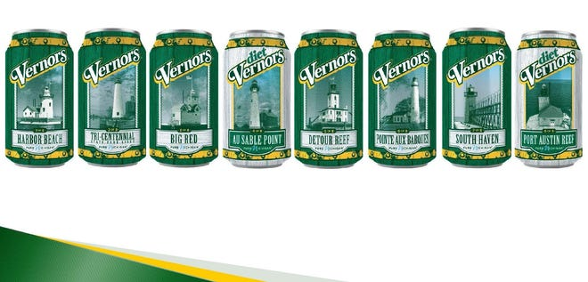 Vernors 2019 Michigan lighthouse line of collectible cans.