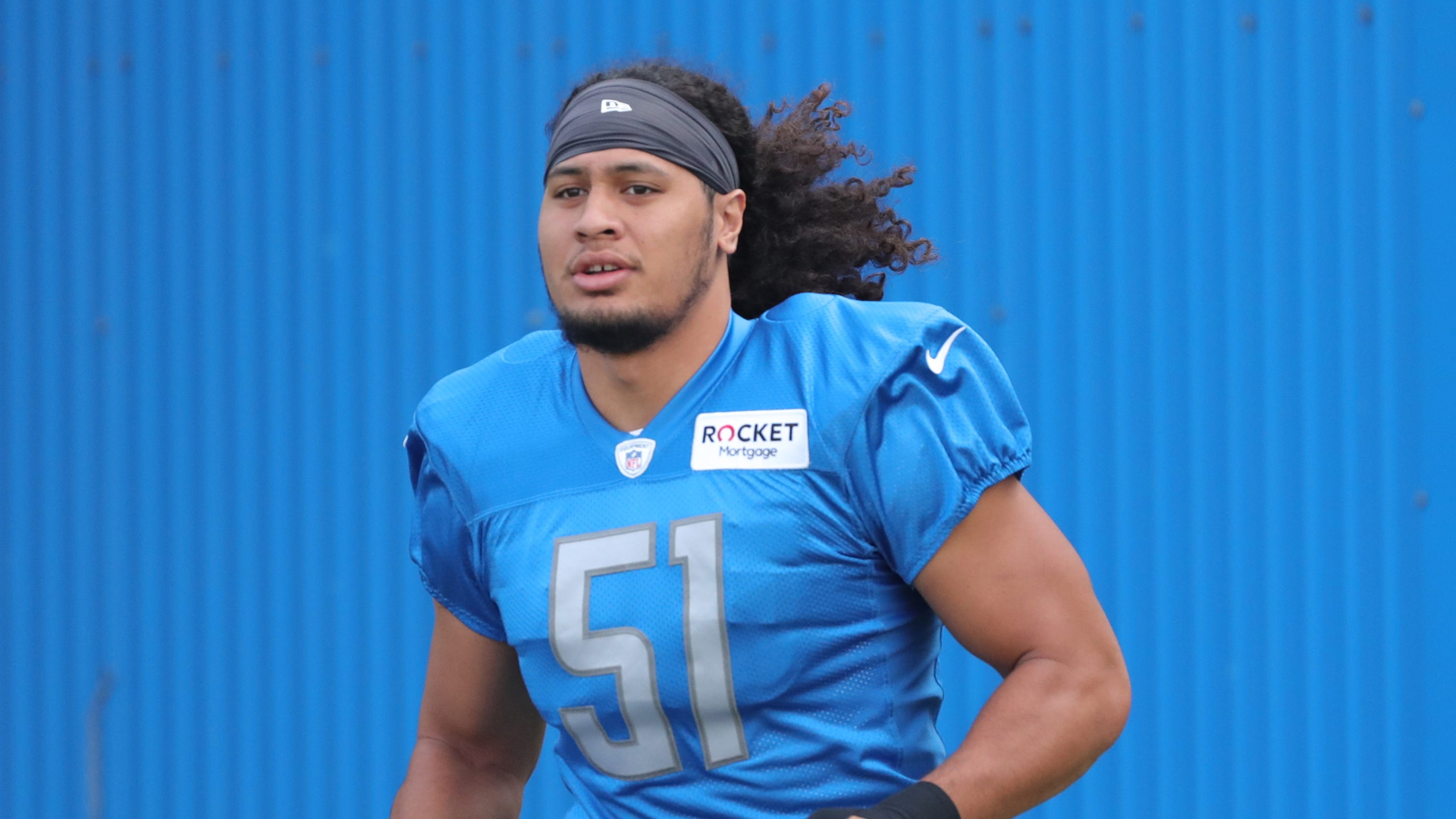 cheap for discount a28d8 5a4b4 Detroit Lions rookie Jahlani Tavai takes first-team snaps at LB