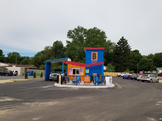 "The new ""B Cubed"" Biggby location concept."