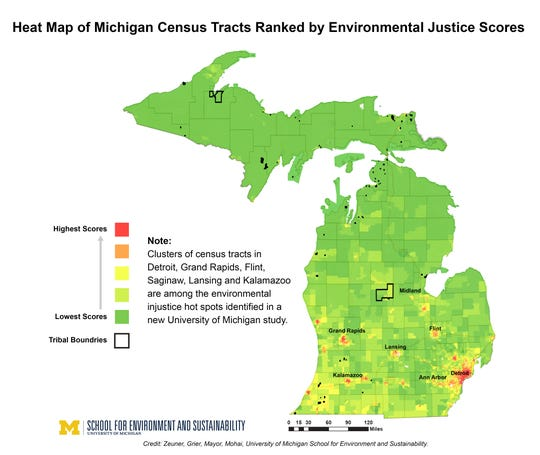 Michigan's worst environmental injustice areas ID'd by new