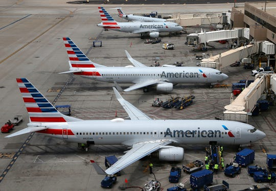 American Airlines planes.