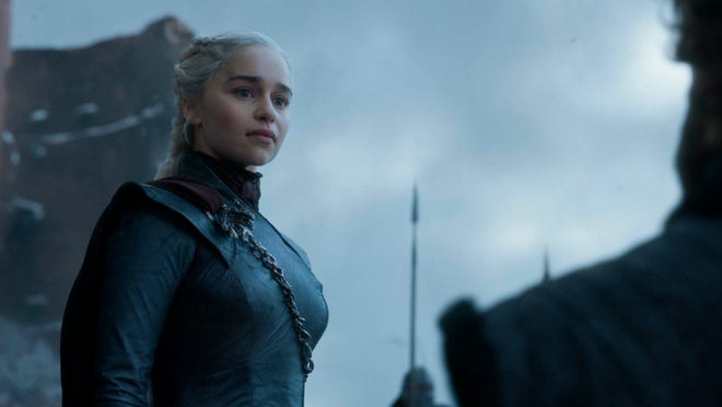 """Emilia Clarke in a scene from the final episode of """"Game of Thrones."""""""