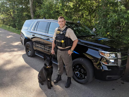 Manistee County  police dog Beno died after being hit by a motorist Tuesday, July 23, 2019.