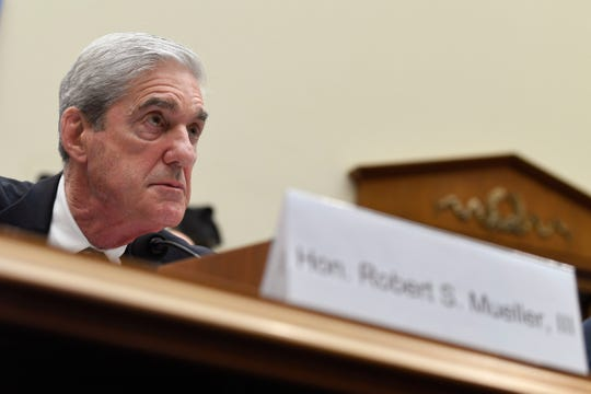 Former special counsel Robert Mueller testifies before the House Intelligence Committee on Capitol Hill in Washington, Wednesday, July 24, 2019.