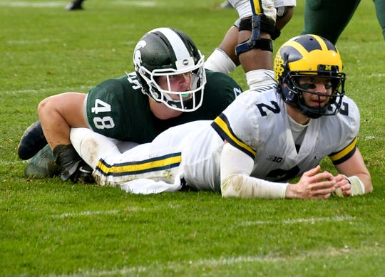 The Sporting News unveiled its top 40 college football players for the 2019 season this week, ranking Michigan State defensive end Kenny Willekes (48) No. 22 and Michigan quarterback Shea Patterson (2) No. 31.