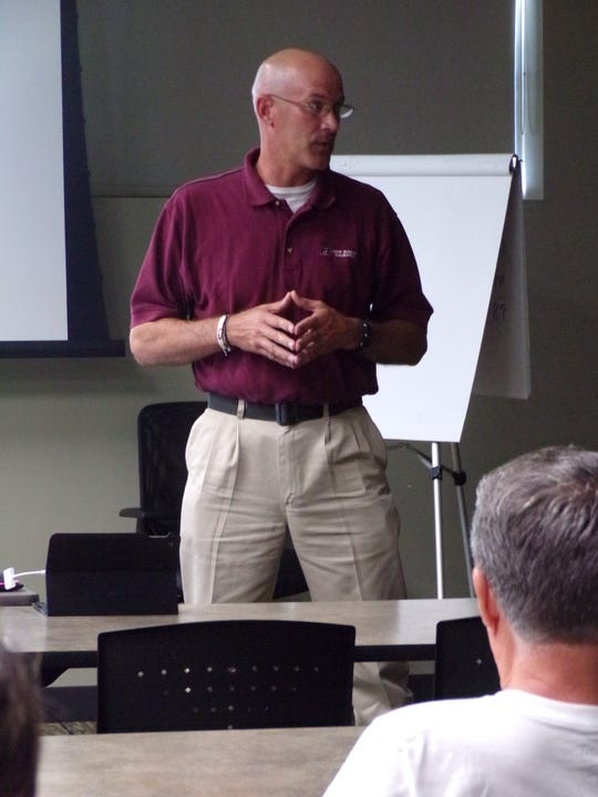 Marc Erffmeyer, Crop Insurance Specialist for Farm Bureau, explained how crop insurance would help farmers.