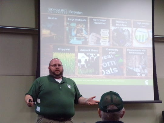 Jon LaPorte, Farm Management Educator for MSUE, talked about stressful situations during the difficult spring season.