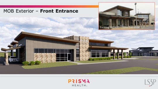 Architect's rendering of the Medical Office Building at Scuffletown Road in Simpsonville.