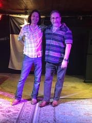 Soldier Songs and Voices founder Dustin Welch, left, with Greenville therapist Neil Sondov, founder of the Upstate chapter.