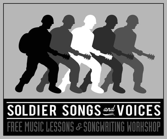 The logo for Soldier Songs and Voices