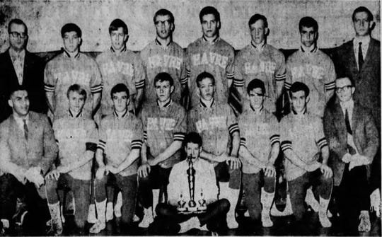 Terry Ceynar, second from the right in the bottom row, was a two-time state wrestling champ for Havre on the 1969 and 1970 title teams.