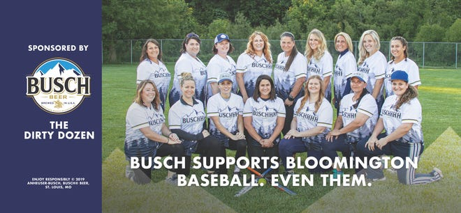 The Dirty Dozen softball team from Bloomington won a Busch sponsorship, one of just 10 teams in the nation to do so.