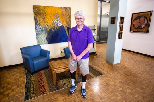 "University of Iowa professor Charles ""Chuck"" Connerly, director of School of Urban and Regional Planning, poses for a photo, Thursday, July 25, 2019, in Jessup Hall on the University of Iowa campus in Iowa City, Iowa."