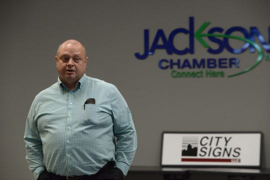 City Signs celebrated its 50th year in business at Jackson Chamber of Commerce on July 24 in Jackson, Tenn.