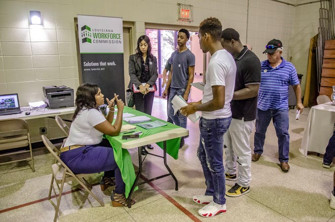 The Re-Entry Job Fair is a job fair targeting people who have previously been incarcerated and was held at the Martin Luther King Jr. Center in Lafayette. Thursday, July 25, 2019.