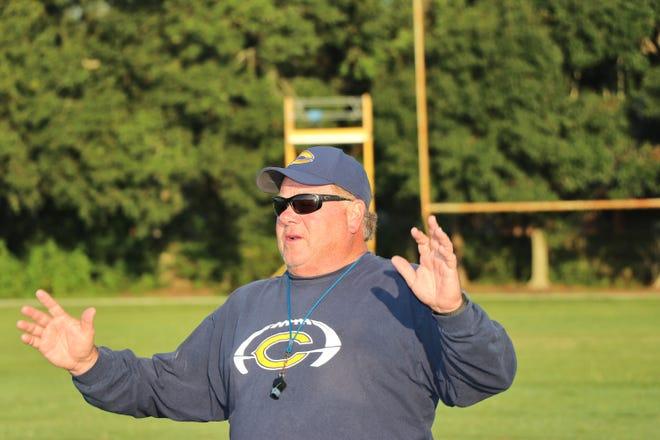 Carencro Football, Coach Tony Courville.  Thursday, July25, 2019