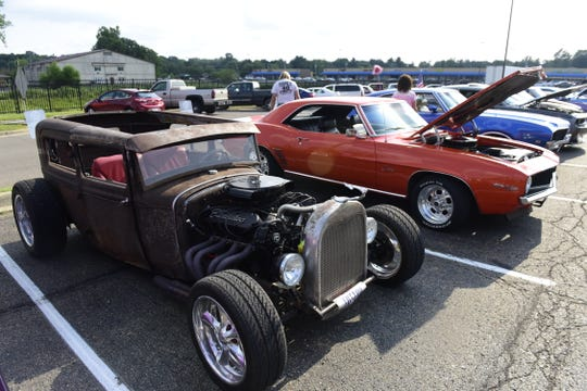 Some cars at the cruise in were custom built, while others were restored original.
