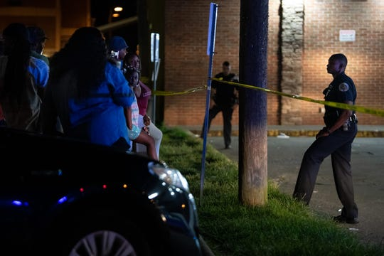 Metro Nashville Police responded to a fatal shooting at the Marathon Market at 2801 John A Merritt Blvd. in Nashville on Wednesday night.
