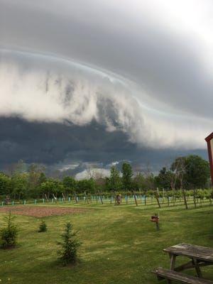 This photo shows a storm this month near Oostburg in Sheboygan County.