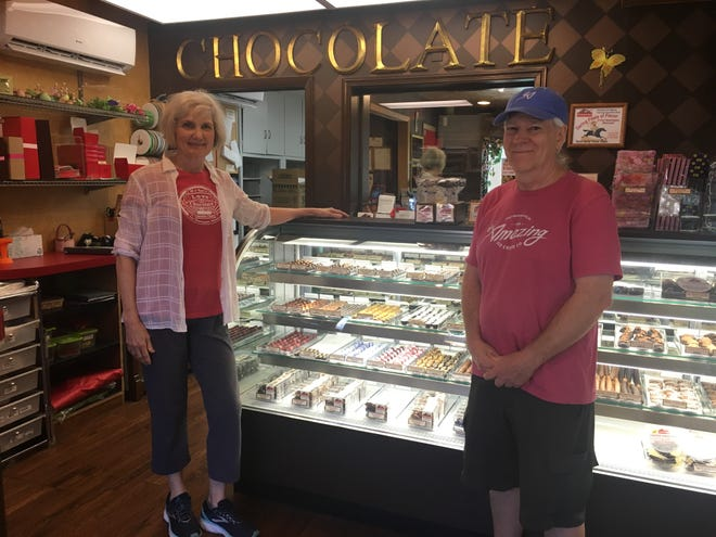 John Reichert and Elizabeth MacCrimmon have owned The Chocolate Chisel shop in Port Washington for 10 years.