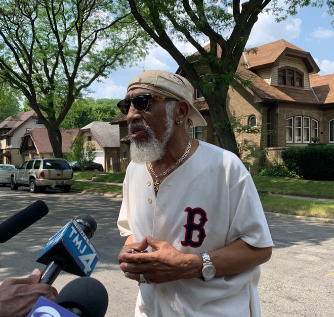 Lawrence Wyatt, who lives on 44th Street near where a child was shot and injured in an apparent road rage incident, spoke out Thursday about violence against children over the past couple weeks.