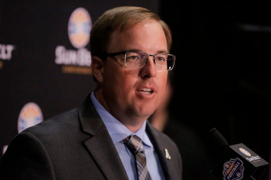New Appalachian State head coach Eli Drinkwitz inherits 17 returning starters and reigning Sun Belt Offensive Player of the Year Zac Thomas at quarterback. Drinkwitz was the offensive coordinator at North Carolina State from 2016-18.