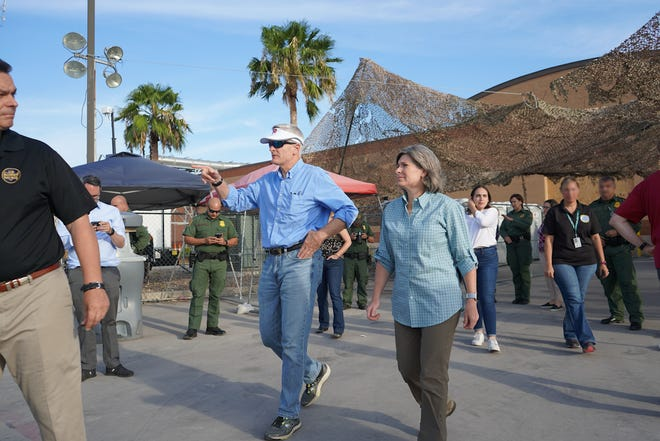 In this file photo, U.S. Sen. Bill Cassidy previously traveled to McAllen, Texas, to assess the humanitarian crisis on the southern border.