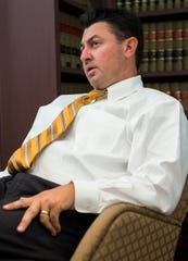Michael Fritz, a candidate for House District 74, is interviewed at Fritz Law Firm in Montgomery, Ala., on Thursday, July 25, 2019.