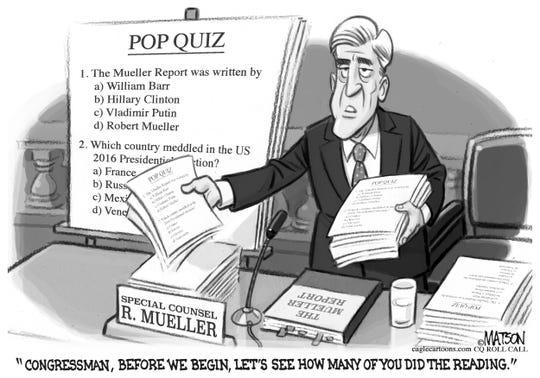 Mueller report pop quiz