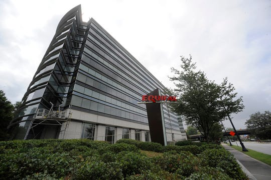 FILE - This Saturday, July 21, 2012, file photo shows the corporate headquarters of Equifax Inc. in Atlanta. A former Equifax executive who sold stock a week and a half before the company announced a massive data breach was sentenced Thursday, June 27, 2019 to serve four months in federal prison for insider trading. (AP Photo/Mike Stewart, File)