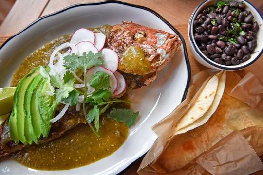 The Gulf red snapper, on the bone, avocado and tomatillo salsa are available at Superica, an Austin-style Tex-Mex eatery opening Aug. 5 in the Gulch.
