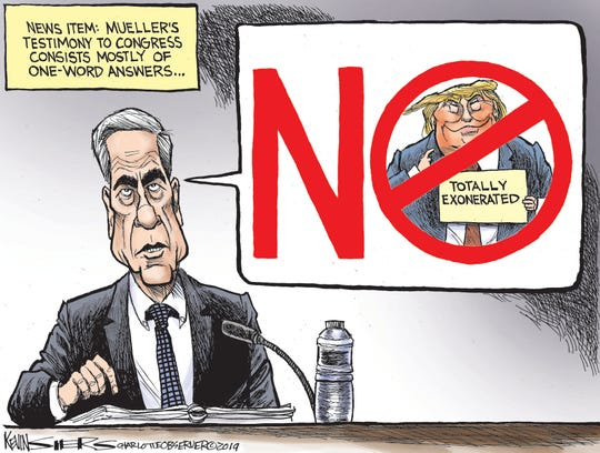 Mueller says no exoneration.