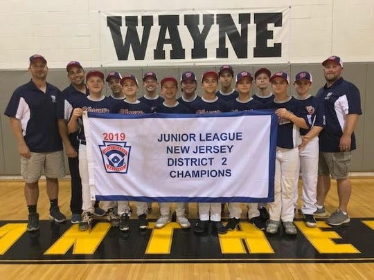 Wayne 14U: (first row, from left) Tyler Maher, Eric Sadowsk, Bret Mandler, Tony Vacca, Aidan Turco, Brandon Van Peenen; (second row) Anthony Decker, Ryan Byle, Jake Van Peenen, Zach Fernandez, Gavin Botbyl, Jake Rude; (coaches) assistant Jason Decker, coach John Vacca and assistant Greg Van Peenen.