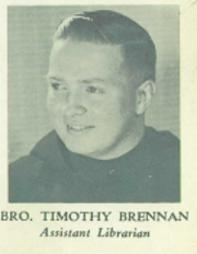Rev. Timothy Brennan in the 1964 Delbarton yearbook