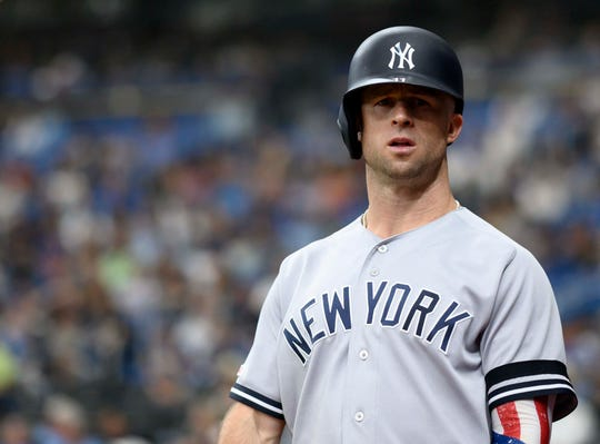 The Yankees placed Brett Gardner on the 10-day injured list due to left knee inflammation before Thursday night's opener of a four-game series against the Red Sox at Fenway Park.