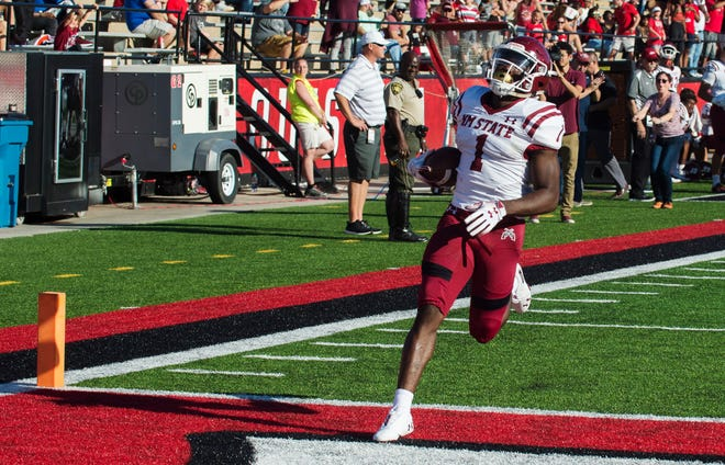 New Mexico State University plays the University of Louisiana at Lafayette on October 13, 2018, at Cajun Field in Lafayette, La.