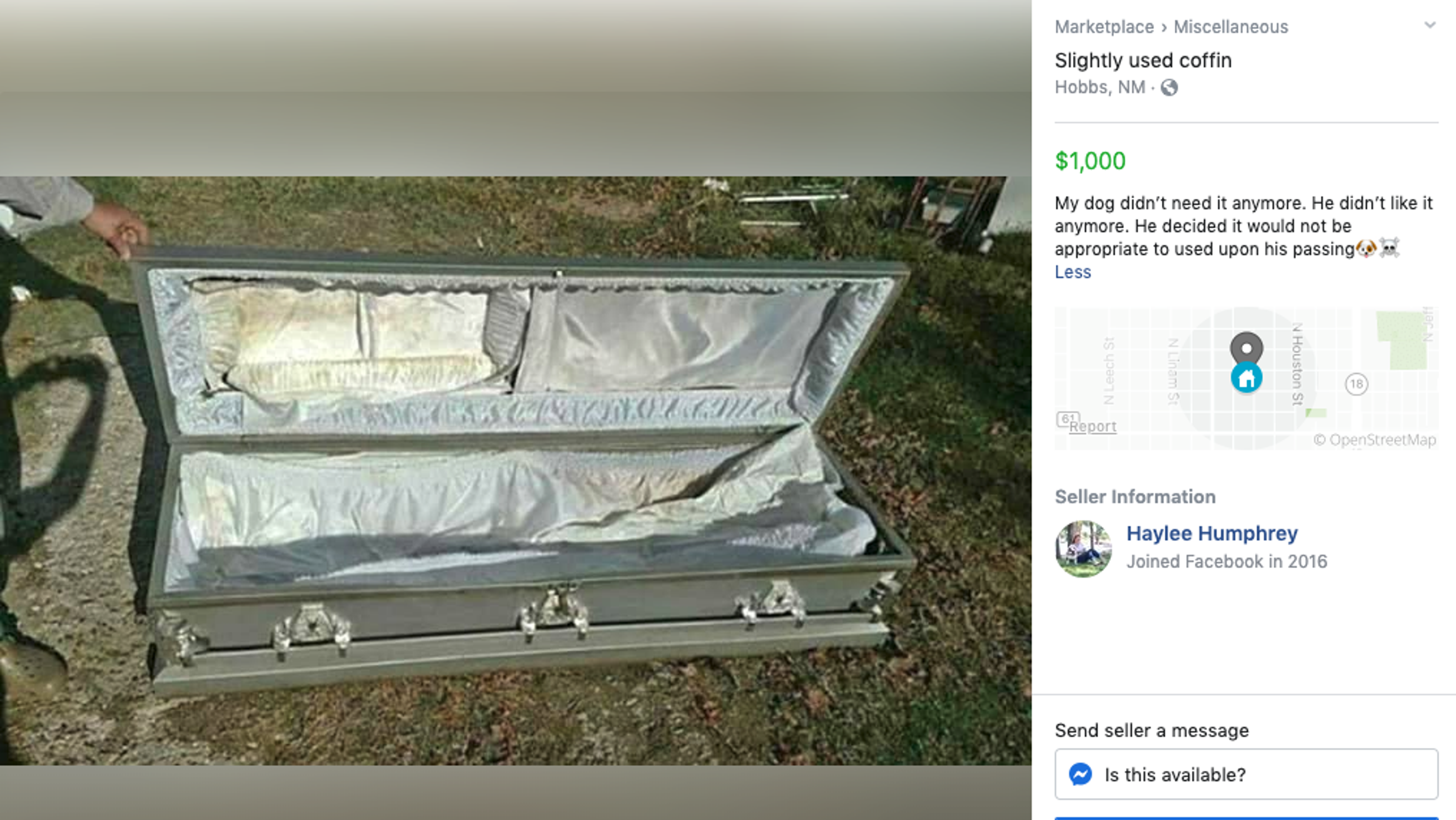 13 weird items for sale on Facebook Marketplace