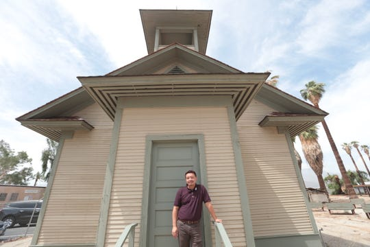 Torres Martinez Vice Chairman Joseph Mirelez, is photographed on the reservation on July 24, 2019. In this photo he stands on the historical building on the reservation.