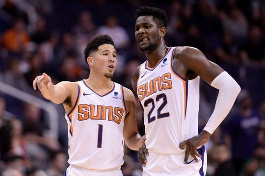 Devin Booker and Deandre Ayton look to improve on their first year together last season in Phoenix.