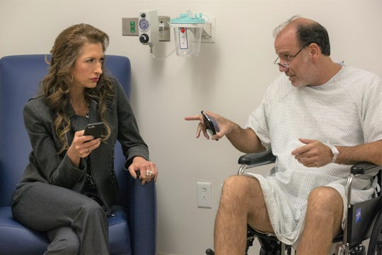 """Alysia Reiner and Nick Sandow star in """"Orange Is the New Black."""" Sandow's character faces some challenges in the final season."""