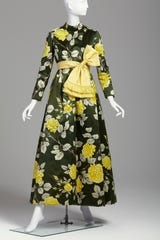 George Halley; Evening Dress; 1960; satin, velvet, silk, organza; 56 3/4 in. (144.1 cm); Collection of Phoenix Art Museum, gift of Carol Schatt, from the Estate of Nina Pulliam