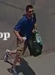 This is a photo of the person of interest who fled the scene with the suspect.