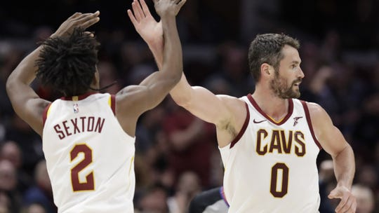 Collin Sexton and Kevin Love only played 22 games together last season in Sexton's rookie season.