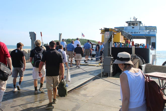 The Miller Ferry transports tens of thousands of people to Put-in-Bay during the busy July season.