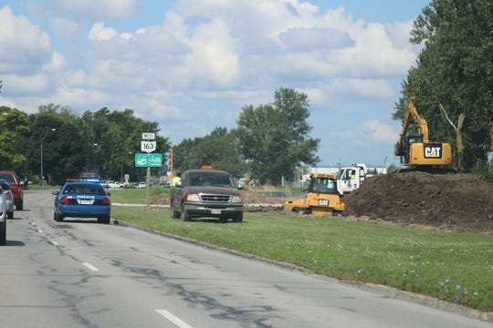 The city's in-kind work happening now includes putting in access roads for when the excavation process begins in a few weeks. as part of a wetlands restoration project in Port Clinton.