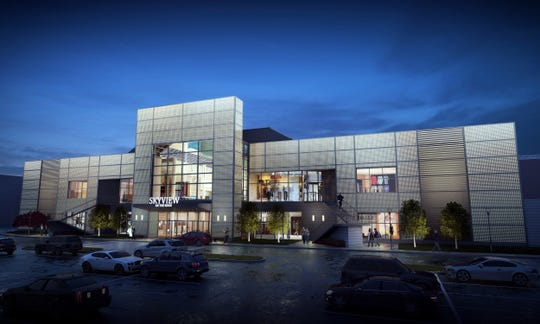 A rendering of what the south entrance will look like at Skyview on the Ridge, the former Medley Centre.