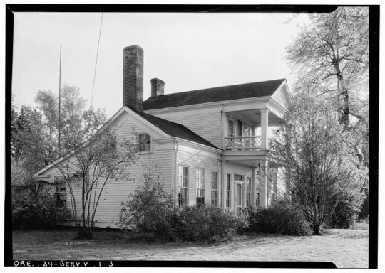 The Sam Brown House, as photographed for the 1933 Historic American Buildings Survey, the nation's first federal preservation program created to document America's architectural heritage.